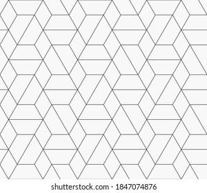 Muster mit dünnen geraden Linien und geometrischen Formen auf weißem Hintergrund. Abstrakte lineare geometrische Struktur. einfarbiger, moderner Hintergrund. Lineare grafische Abbildung.