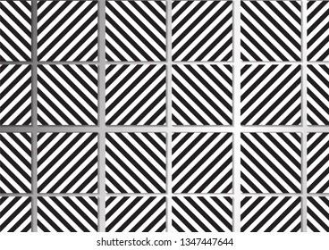 Pattern Tile Design Color   White and black  -hipster style