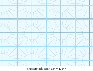 Pattern Tile Design Color White and blue  -hipster style