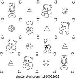 Pattern for tissues, toys, mice and teddybears.