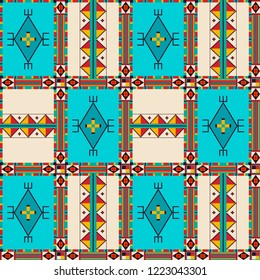 Pattern in traditional style Indian tribe Dakota Sioux.
