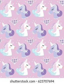 Pattern unicorn violet