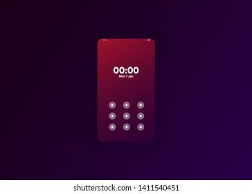 Phone Unlock Pattern Images, Stock Photos & Vectors