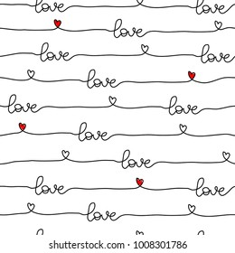 pattern for Valentine's Day simple line seamless design