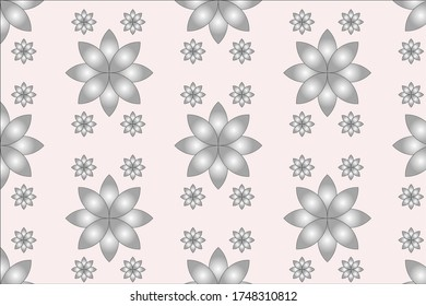 pattern vector design with flowers illustration