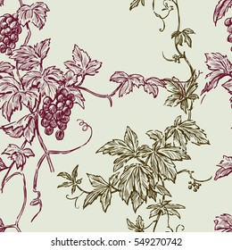 pattern of the vine branches