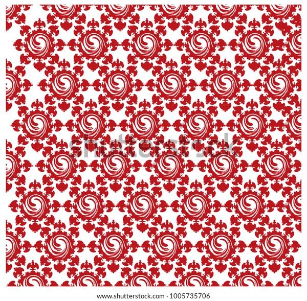 Pattern Vortex Irregular Flower Shape Stock Vector (Royalty