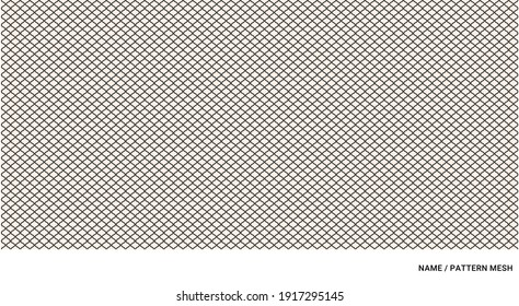 pattern with wavy lines as a mesh