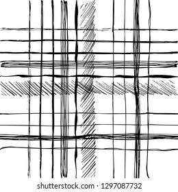 Pattern white and black grange brush line. Ink hand drawn texture. Print surface design.
