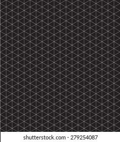 Pattern white isometric grid black background
