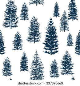 pattern Winter Christmas forest