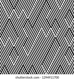 pattern with zigzag black lines