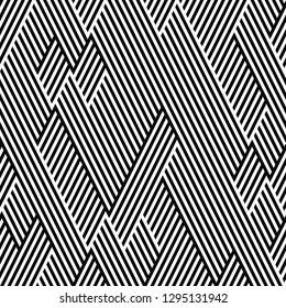 pattern with zigzag black stripes