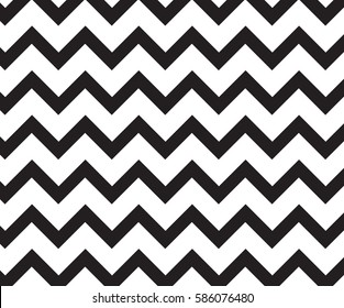 Pattern in zigzag.Black and white Classic chevron pattern.