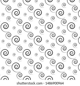 Patterned black shell clamshell on a white background pattern for wallpaper