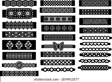 Patterned Bracelet Template for Cutting Machine and Jewelry Making