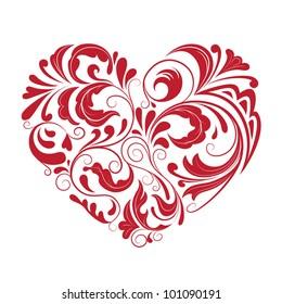 patterned heart