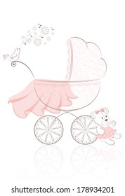 The patterned pram stroller with