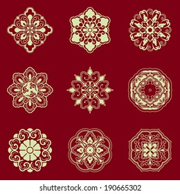 Patterns of China traditional style,based on the China traditional architectural floor and ceiling, can be used for seamless background and frame .