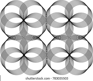 Patterns of Overlapping Rings