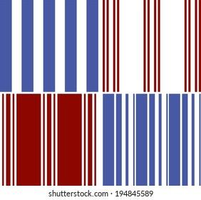 Patterns set of stripes pattern background (vector version)