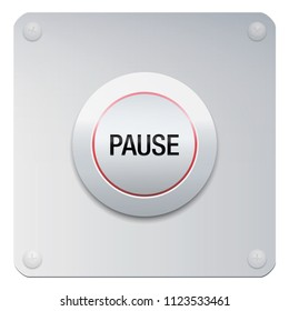 Pause button to stop music, video, computer, movie or any media. Or symbolic for reducing stress, for calmness, silence, relaxing, tranquility, mental health, yoga, ease and rest.
