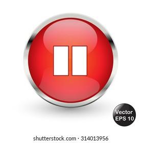 Pause button. Vector illustration.