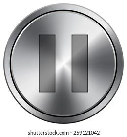 Pause icon. Internet button on white background. EPS10 Vector.