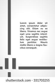 pause symbol dark infographics on gray gradient background