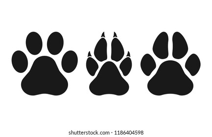 e706f8cebc80 Paw of an animal, canine footprints. Traces of dog paws, dog paws.