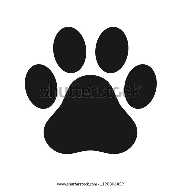 Image Vectorielle De Stock De Paw Dun Animal Empreintes