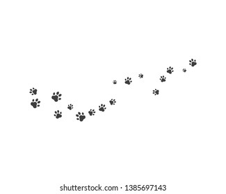 Paw background template vector icon illustration design