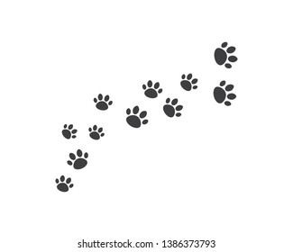 Paw background template vector illustration