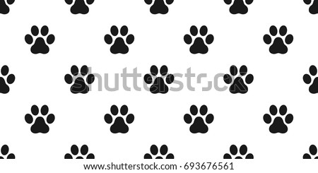 Paw Dog Cat Icon Illustration Vector Seamless Pattern Wallpaper Background Jpg 450x245