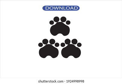 paw icon or logo isolated sign symbol vector illustration - high quality black style vector icons.