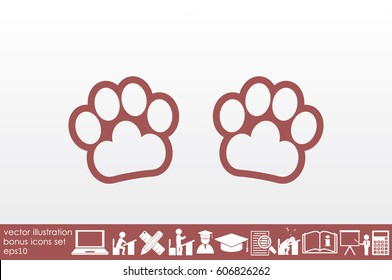 Paw Icon Vector.
