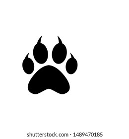 paw icon vector design template