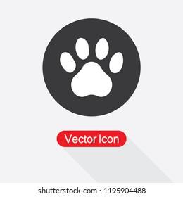 Paw Icon Vector Illustration Eps10