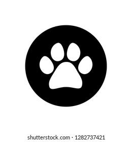 Paw icon vector. Paw Print icon