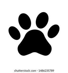 Paw icon vector. Paw Print icon on white background