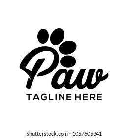 Paw logo vector art
