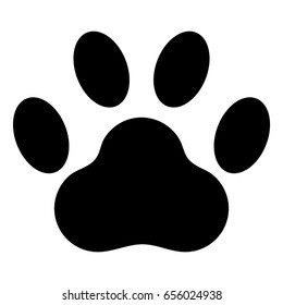 Paw Print Animal Vector Icon