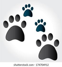 paw print animal. vector illustration
