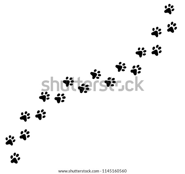 Paw Print Cat Dog Puppy Pet Stock Vector Royalty Free 1145160560