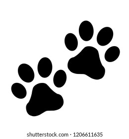 Paw Print Couple Vector Icons