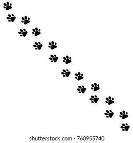 Paw print dog