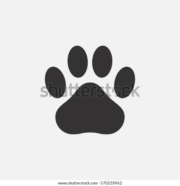 Pawプリントアイコン 動物の足跡 猫 犬 熊 ベクターイラスト のベクター画像素材 ロイヤリティフリー