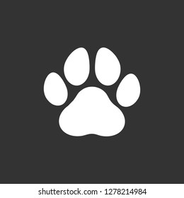 Paw Print icon. symbol for web site Computer and mobile vector.