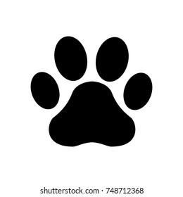 Paw Print icon. Vector
