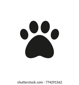 Paw print icon. Vector